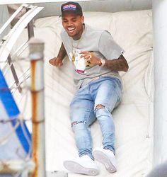 Chris Brown, Travis Barker,Kourtney Kardashian, Kanye West Take Kids to Tyga's Son's Birthday