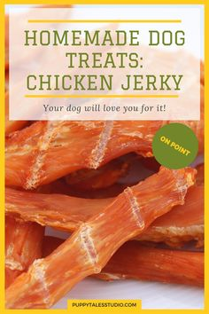 I have found an AMAZING recipe for homemade chicken jerky dog treats! This recipe is from Proud Dog Mom, and I just had to try it!And it only gets better: it's