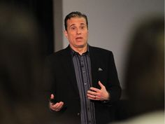Michael Landsberg speaks during a Mental Health Awareness Week presentation at the University of Windsor in 2013.