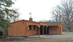 L-shaped Horse Barn Plans | Shaped Horse Barn | Horse Barns | Wood-Tex Products