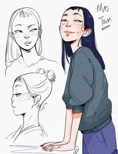 70 Ideas Drawing Cartoon Faces Female Characters For 2019 – People Drawing Character Design Cartoon, Character Design References, Character Drawing, Comic Character, Character Reference, Animation Character, Female Reference, Art Et Illustration, Character Illustration