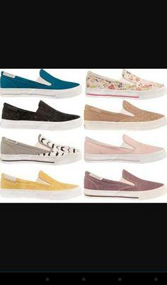 Sapatos confortáveis de várias cores