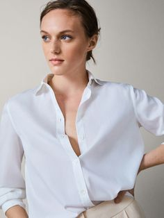d83eb1ae2c View all - Shirts & Blouses - COLLECTION - WOMEN - Massimo Dutti - Hungary  Fehér