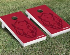 University of Arkansas Razorbacks Cornhole Boards