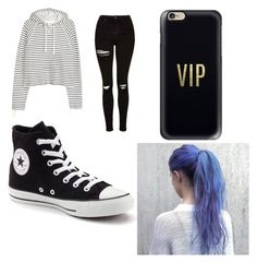 """""""Nia style"""" by iamtaylor6 ❤ liked on Polyvore featuring Topshop, Converse and Casetify"""