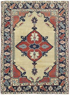 Different shades, tones, and tints are utilized to create the design of this area rug by using triadic color harmony. Persian Carpet, Persian Rug, Color Harmony, Carpet Design, Floor Rugs, Oriental Rug, Vintage Rugs, Digital Prints, Bohemian Rug