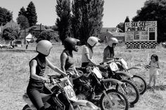 Vintage motorcycle ladies