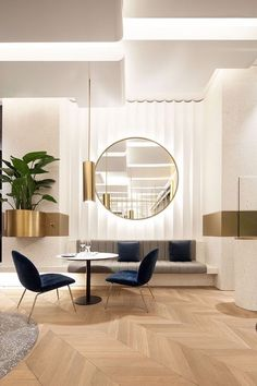 One of the most recognized interior design projects created by Cochrane Design is the Chelsea Townhouse, marvelous luxury home with modern interior design. Café Design, Design Hotel, Restaurant Design, House Design, Restaurant Bar, Asian Design, Design Ideas, Design Trends, Door Design