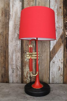 Bright Red Unique Trumpet Lamp by FFUTSSTUFF on Etsy https://www.etsy.com/listing/253731109/bright-red-unique-trumpet-lamp