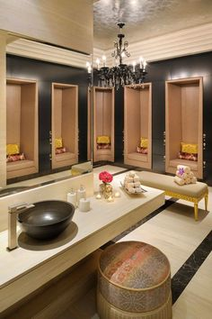 what  beautiful spa room