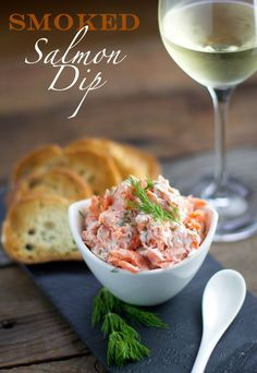 Smoked Salmon Dip and Wine Pairing. Easy, elegant, and incredibly delicious…