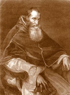 Pablo III (1468-1549), Sumo Pontífice (1534-1549) de la Iglesia Católica que representa el Papa número 220 de su historia, a partir de un grabado de Vincenzo Crispino sobre el retrato de Tiziano (1485-1576) #miercolesretratos #EnciclopediaLibre (Public Domain)
