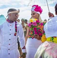 Tsonga bride at her best African Wedding Attire, African Attire, African Dress, African Weddings, African Wear, Tsonga Traditional Dresses, South African Traditional Dresses, Couples African Outfits, African Fashion Dresses