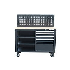 Mobile Workbench with Pegboard Workbench With Pegboard, Mobile Workbench, Drawers, Stuff To Buy, Home, Set Of Drawers, Ad Home, Homes, Chest Of Drawers