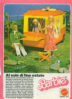 """@dawn orchel Remember all the fun we had """"driving"""" Ken and Barbie around the dining room? We also had the awesome carousel kitchen!! cg"""