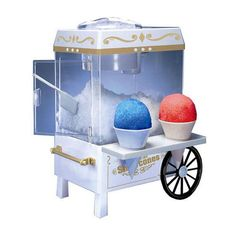 The only thing better than snow cones is more snow cones! The only thing better than even more snow cones is making them in a nostalgic old fashioned snow cone machine! This snow cone machine goes great in any home and your kids will love it. Snow Cone Syrup, Snow Cone Machine, Ice Shavers, Sno Cones, Kegel, Teen Girl Gifts, Tween Gifts, Spa Gifts, Food Gifts
