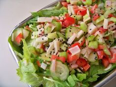 Salada de kani, salsão e etc
