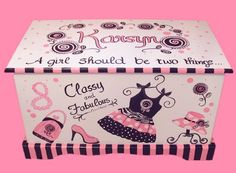 Glamour Girl Toy Chest Custom Designed via Etsy