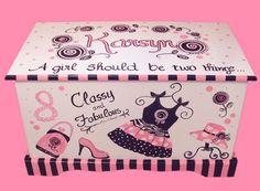 Glamour Girl Toy Chest Custom Designed via Etsy