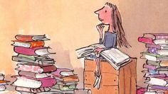 Matilda. Ilustración de Quentin Blake... love it!