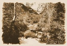 Zillertal, Tirol, Austria, sepia,  Wildbach, 'Zillergrund' von hako bei artflakes.com als Poster oder Kunstdruck $16.63, (c) HaKo - Photo