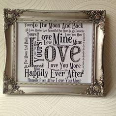 Valentine's Gift, Anniversary Gift, Wedding Gift, gift for him, gift for her £25.00