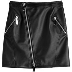 Dsquared2 Leather Mini Skirt (2.165 RON) ❤ liked on Polyvore featuring skirts, mini skirts, bottoms, black, mini skirt, leather mini skirt, dsquared2, short skirts and leather miniskirt