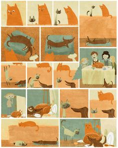 Neat illustration #cats # daschund