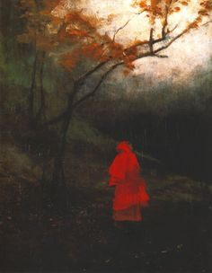 Władysław Wankie - Lonely Woman in a Park