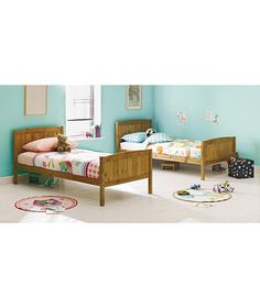 Maybe? (Bunks used as singles) - Detachable Single Bunk Bed Frame - Pine at Argos.co.uk