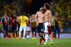 David Luiz e James Rodriguez