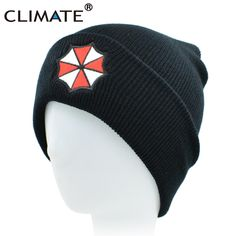 CLIMATE Men Women Winter Warm Beanie Hat Resident Evil Umbrella Corporation  Soft Cool Knitted Beanie Hat Cap For Adult Men Women. Price Archive d3441df5efcc