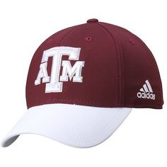 79abd9f43698e Men s adidas Maroon White Texas A M Aggies Sideline Structured Flex Hat