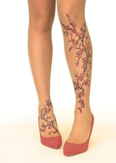 27 Trendy Ideas For Cherry Blossom Tree Tattoo Meaning Beautiful Fake Tattoos, Great Tattoos, Trendy Tattoos, Leg Tattoos, Sleeve Tattoos, Tattoos For Women, Circle Tattoos, Tattoo Bein, I Tattoo