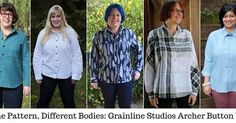 Our latest post @megret79 in the #samepatterndifferentbodies series is the @grainlinestudio Archer! (Link in profile)  #curvysewingcollective #cscshirtmakingmonth #curvysewing #plussizesewing #grainlinearcher #shirtmsamepatterndifferentbodies,grainlinearcher,curvysewingcollective,shirtm,plussizesewing,cscshirtmakingmonth,curvysewingcurvysewingcollective