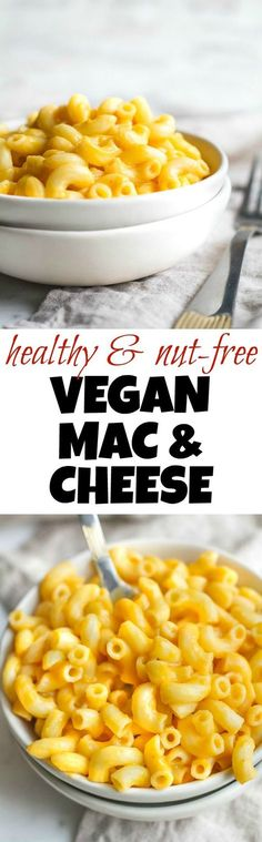 A vegan mac & cheese that's smooth, creamy, nut-free, and made with simple healthy ingredients! The versatile cheesy sauce tastes and feels so authentic that it's guaranteed to be loved by vegans and non-vegans alike. Suitable for those following dairy-free, nut-free, gluten-free, vegan, and paleo diets.   runningwithspoons.com