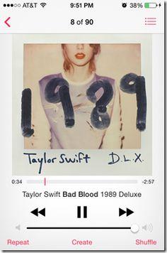 """Bad Blood"" Taylor Swift 1989 #1989 #TS1989 #taylorswift #album"