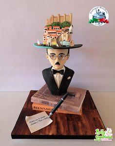 Writers And Poets, Sugar Sheets, Gravity Defying Cake, Take The Cake, Digital Art Girl, Cake Art, Sculpting, Cake Decorating, Portugal