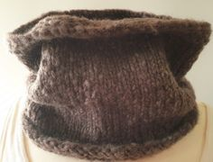 Hand-knitted cowls in a solid mix of wool and nylon in three different colors for kids and adults by Ebooksandhandmade on Etsy