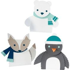 Arctic Animals Kit from Paper Source. A post holiday winter scene perhaps… Holiday Crafts, Fun Crafts, Crafts For Kids, Paper Crafts, Animal Projects, Animal Crafts, Art Projects, Artic Animals, Polo Norte