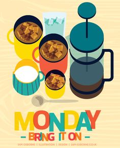 Are you ready for Monday morning? #illustration #monday #coffee