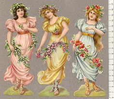 Vintage Pictures, Art Pictures, Vintage Paper Crafts, Fairy Photography, Victorian Angels, Christmas Decals, Flower Fairies, Female Images, Collage Sheet