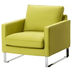 MELLBY Chair - Dansbo yellow-green - IKEA.  I need this chair.
