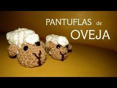 Cómo hacer pantufla de oveja a crochet, dos tamaños