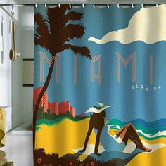 DENY Designs Anderson Design Group Miami Shower Curtain | Pure Home ... I NEED this.
