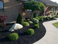 Idea, techniques, including guide with regard to acquiring the most ideal outcome as well as attaining the optimum usage of Mulch Landscaping Ideas Front Garden Landscape, Lawn And Landscape, House Landscape, Landscape Design, Mulch Landscaping, Landscaping With Rocks, Front Yard Landscaping, Backyard Patio, Black Rock Landscaping