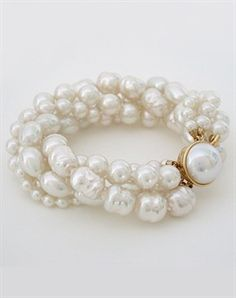 Majorica Torsade Pearl Bracelet  - Outfit 373