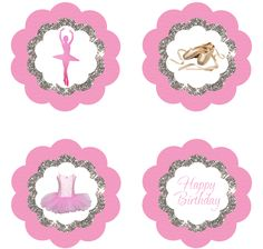 Ballet Cupcake Toppers - FREE PDF Download