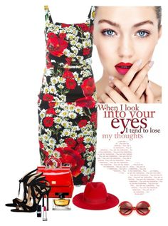 """""""When I Look In Your Eyes!"""" by katiethomas-2 ❤ liked on Polyvore featuring Dolce&Gabbana, Chelsea Paris, Filù Hats, Wildfox, women's clothing, women, female, woman, misses and juniors"""
