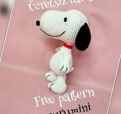 PATRON GRATIS SNOOPY AMIGURUMI 31938 Crochet Animal Patterns, Stuffed Animal Patterns, Crochet Patterns Amigurumi, Crochet Animals, Crochet Dolls, Chat Crochet, Free Crochet, Crochet Baby, Snoopy Amigurumi